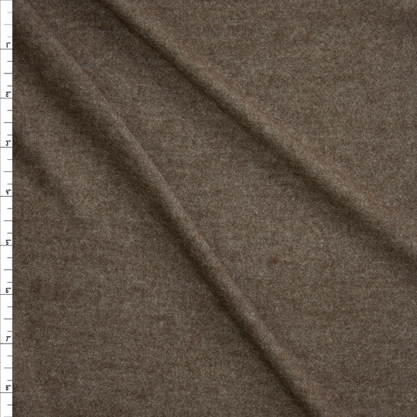 Brown Brushed Stretch Sweater Knit Fabric By The Yard