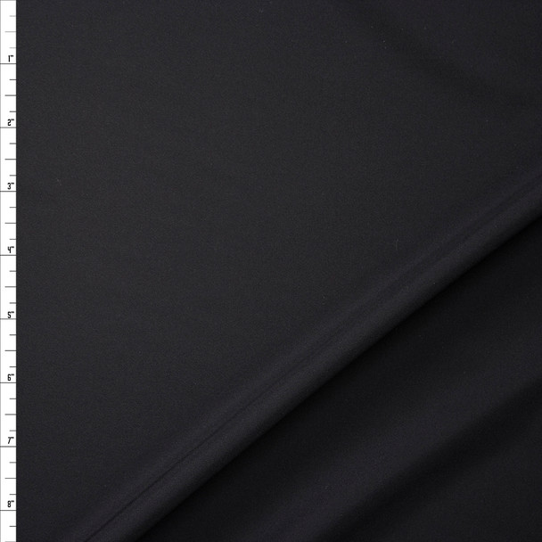 Black Lightweight Silk Crepe De Chine Fabric By The Yard
