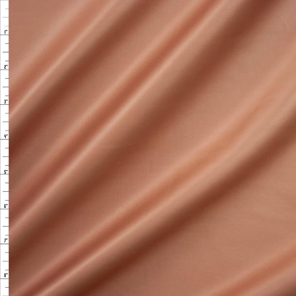 Matte Metallic Nude Scuba Knit Fabric By The Yard