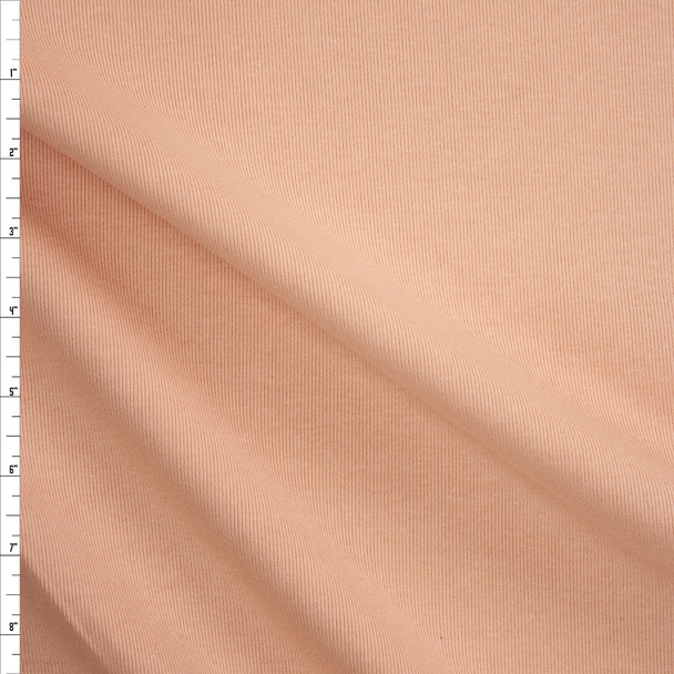 Peachy Nude Heavyweight Mini Rib Knit Fabric By The Yard