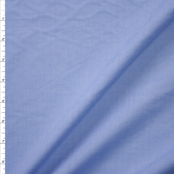 Fine Light Blue Cotton Chambray Fabric By The Yard
