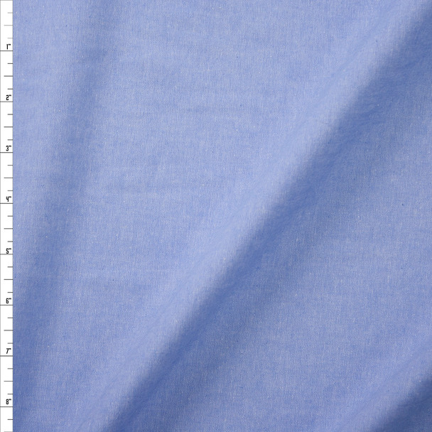 Light Blue Cotton Chambray Fabric By The Yard