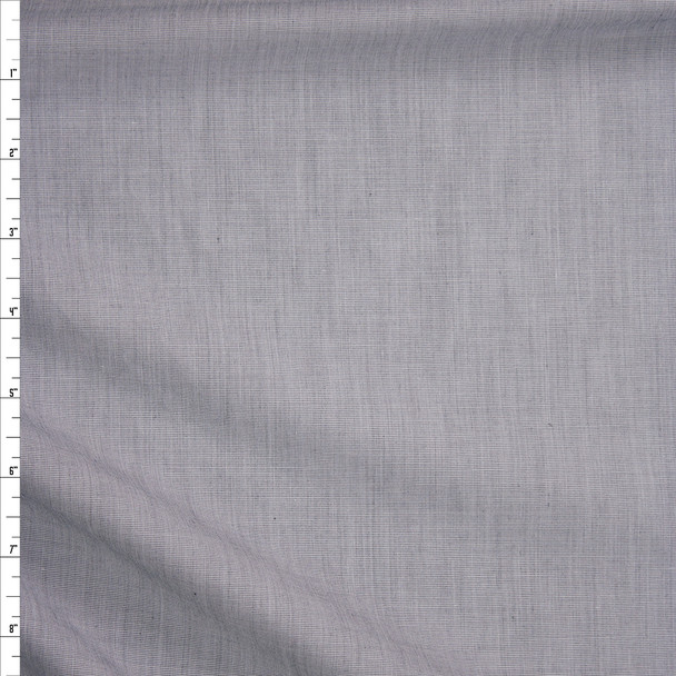 Light Grey Designer Cotton End-on-End Fabric By The Yard