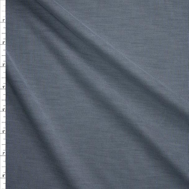 Grey/Black Brushed Stretch Rib Knit Fabric By The Yard