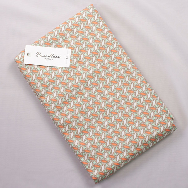 Boundless Quilter's Cotton Geo Taupe (Bargain 4y Cut) Fabric By The Yard