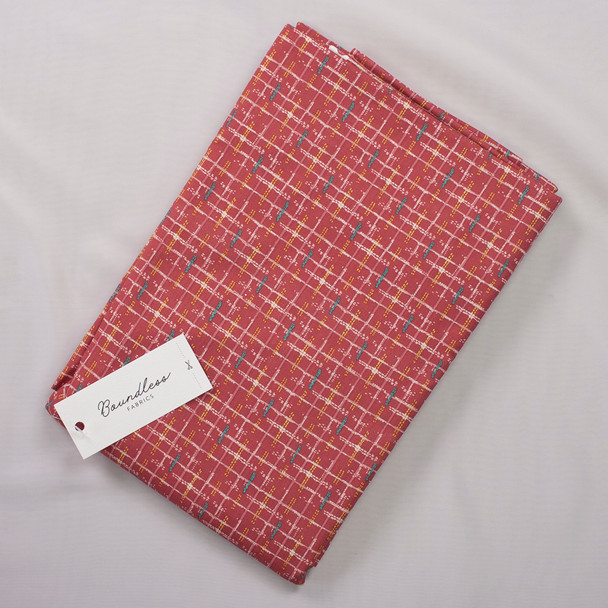 Boundless Quilter's Cotton Stitch Berry (Bargain 4y Cut) Fabric By The Yard