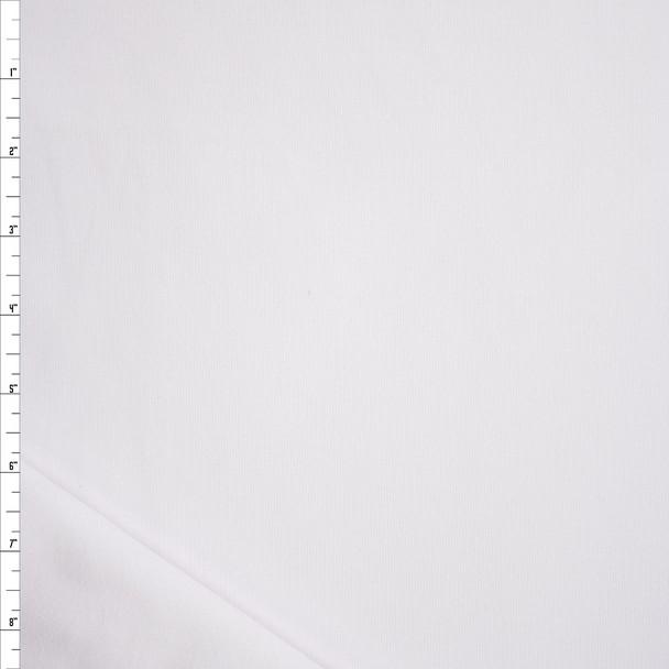 White Heavyweight Micro Rib  Fabric By The Yard