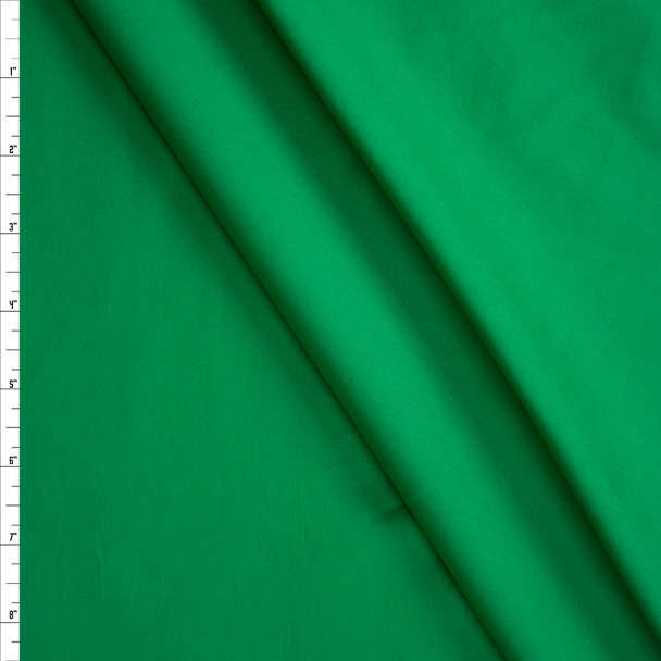Bright Green Stretch Cotton Broadcloth Fabric By The Yard