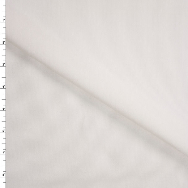 White Stretch Baby Wale Corduroy Fabric By The Yard