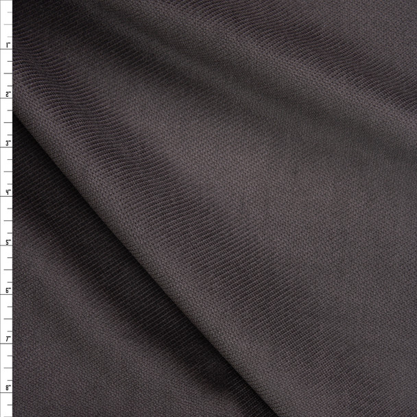 Charcoal Diamond Texture Cotton Velvet Fabric By The Yard
