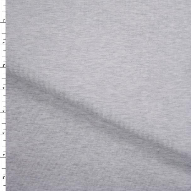 Light Grey Heather Heavyweight Micro Rib Fabric By The Yard
