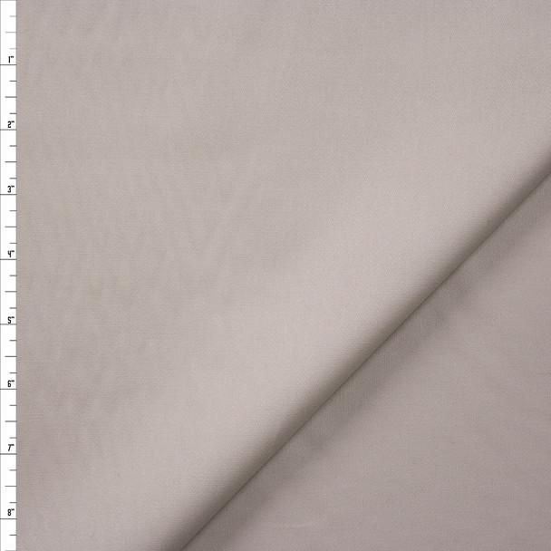 Light Khaki Fine Stretch Designer Cotton Twill Fabric By The Yard