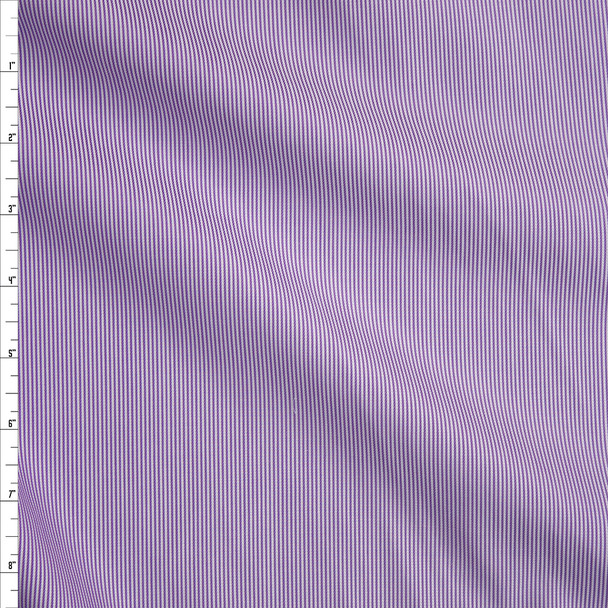 Lavender and White Textured Stripe Italian Shirting Fabric By The Yard
