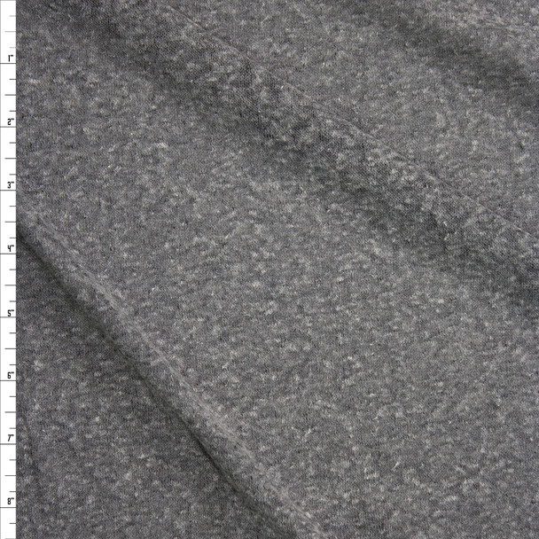 Grey Slubbed Lightweight Sweater Knit Fabric By The Yard