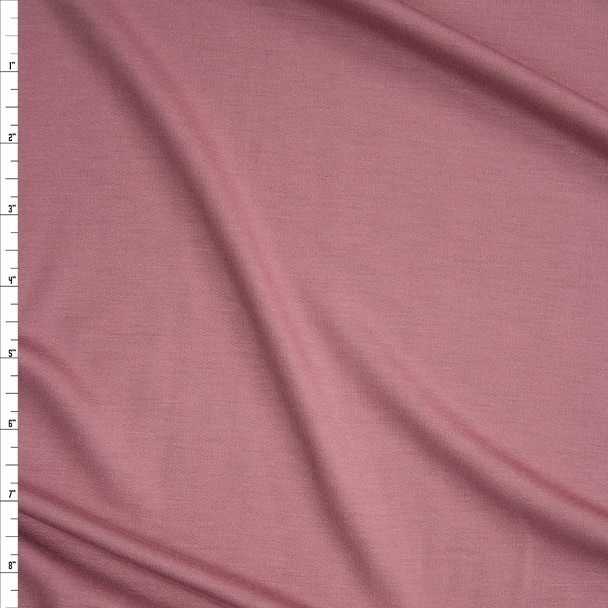 Dusty Rose Bamboo French Terry Fabric By The Yard