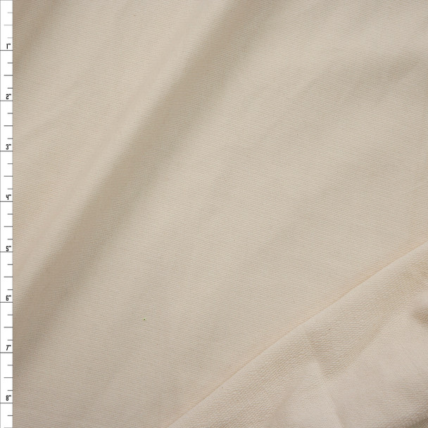 Natural Tube Knit French Terry Fabric By The Yard