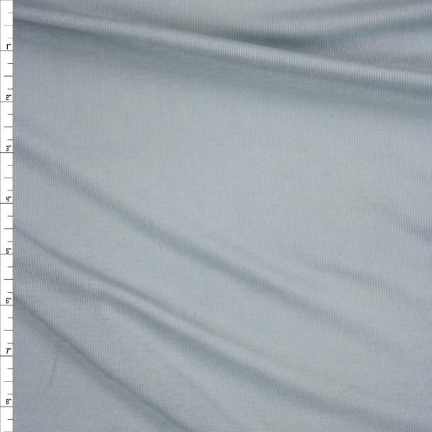Light Grey Lightweight Fine Rib Knit Fabric By The Yard