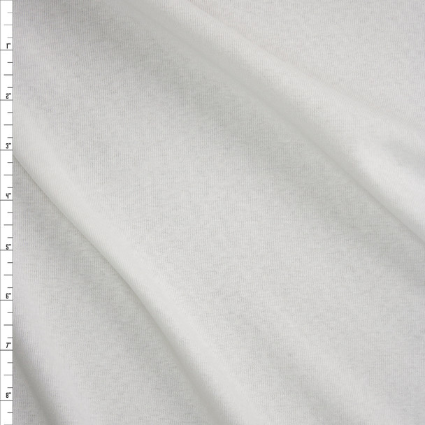 White Light Midweight Fine Rib Knit Fabric By The Yard