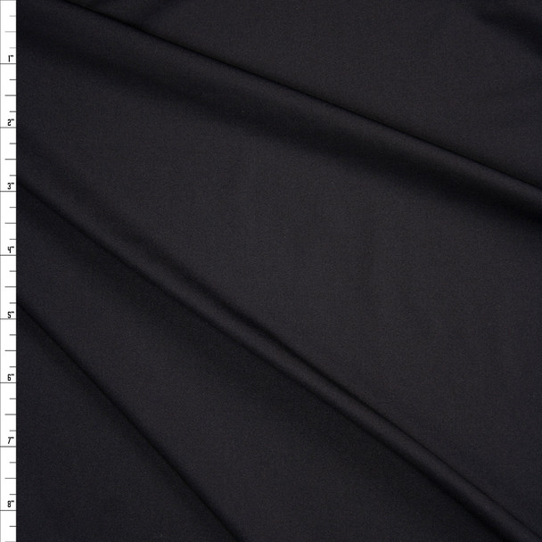 Black Poly/Spandex Stretch Knit Fabric By The Yard