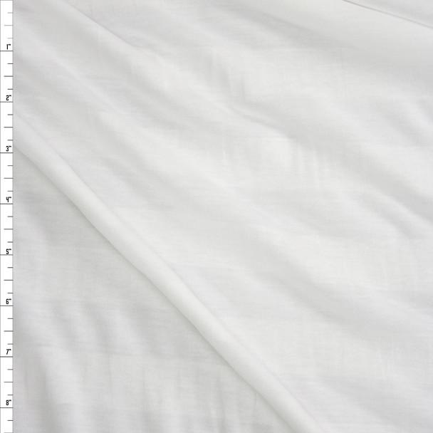 White on White Horizontal Stripe Lightweight Jersey Knit Fabric By The Yard