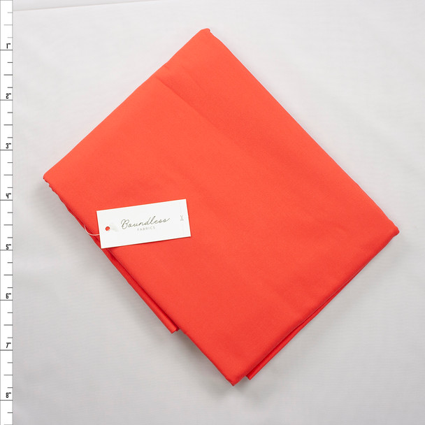 Boundless Quilter's Cotton Solid Flame (5y Bargain Cut) Fabric By The Yard