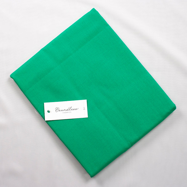 Boundless Quilter's Cotton Solid Emerald (3y Bargain Cut) Fabric By The Yard