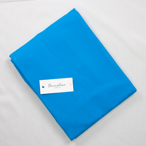 Boundless Quilter's Cotton Solid Cerulean (5y Bargain Cut) Fabric By The Yard
