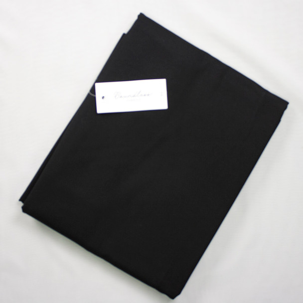 Boundless Quilter's Cotton Solid Black (4y Bargain Cut) Fabric By The Yard