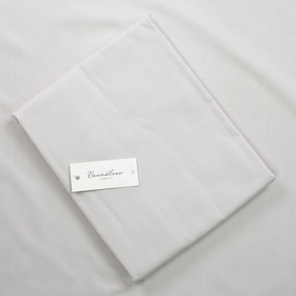 Boundless Quilter's Cotton Solid Fog (3y Bargain Cut) Fabric By The Yard