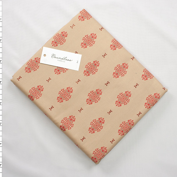 Boundless Quilter's Cotton Brooch Beige (6y Bargain Cut) Fabric By The Yard