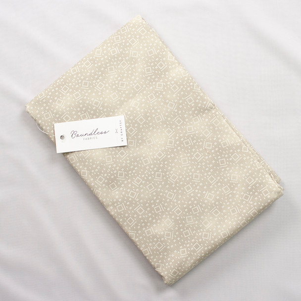 Boundless Quilter's Cotton Squares Tan (4y Bargain Cut) Fabric By The Yard