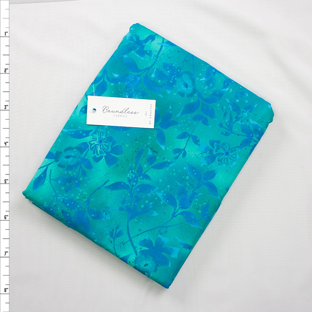 Boundless Quilter's Cotton Tidal (6y Bargain Cut) Fabric By The Yard