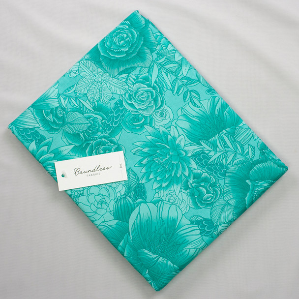 Boundless Quilter's Cotton Florida Keys Floral (4y Bargain Cut) Fabric By The Yard