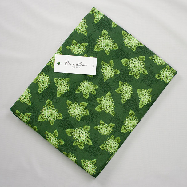 Boundless Quilter's Cotton Bouquet Green (3y Bargain Cut) Fabric By The Yard
