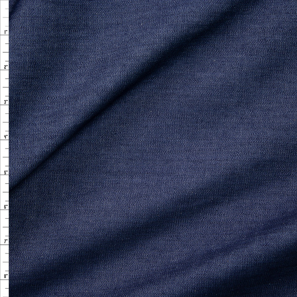 Indigo #9 Stretch Midweight Denim from 'True Religion' Fabric By The Yard