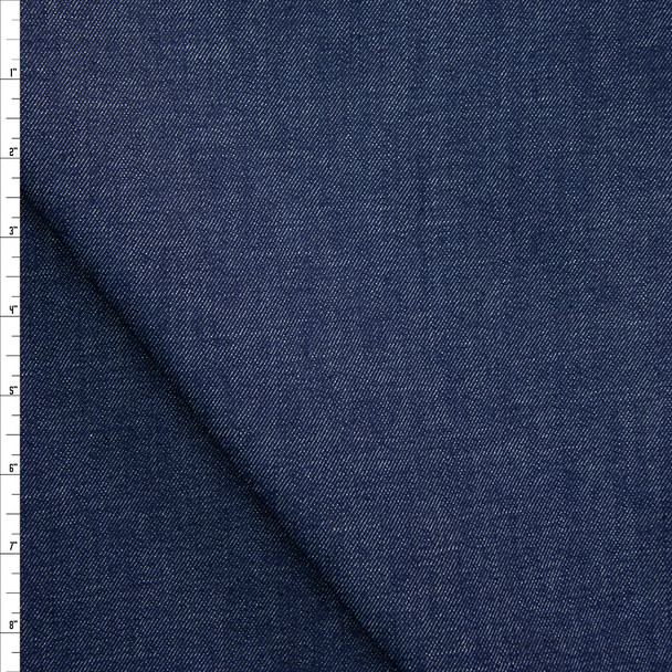 Indigo #11 Stretch Midweight Denim from 'True Religion' Fabric By The Yard