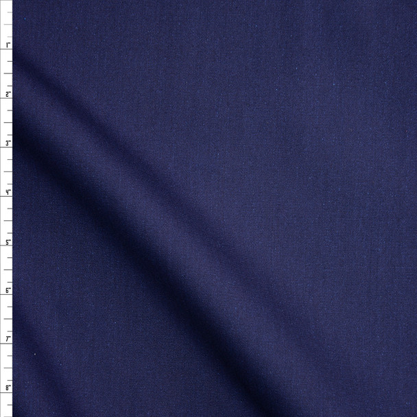 Navy Designer Stretch Light Midweight from 'True Religion' Fabric By The Yard