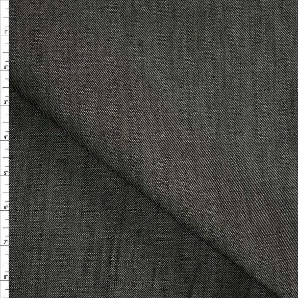 Warm Charcoal Heavyweight Denim from 'True Religion' Fabric By The Yard