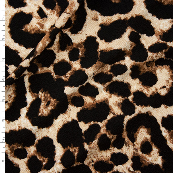 Leopard Crepe Liverpool Knit Fabric By The Yard