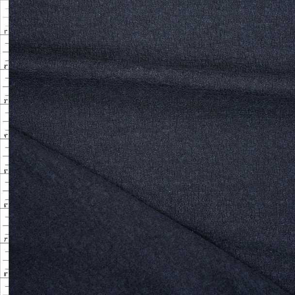 Black Gauzy Textured Brushed Sweater Knit Fabric By The Yard