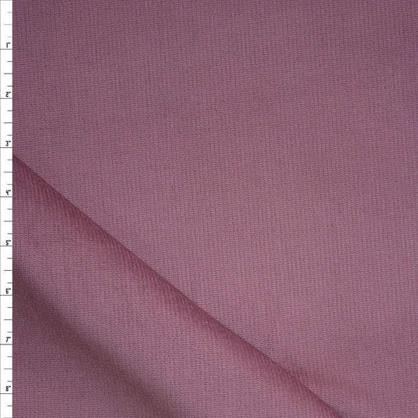 Mauve Stretch Corded Cotton Velvet Fabric By The Yard
