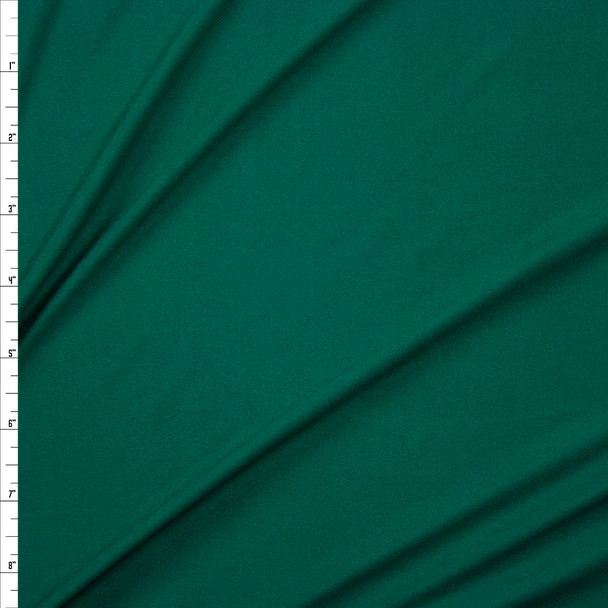 Christmas Green Double Brushed Poly Spandex Knit Fabric By The Yard