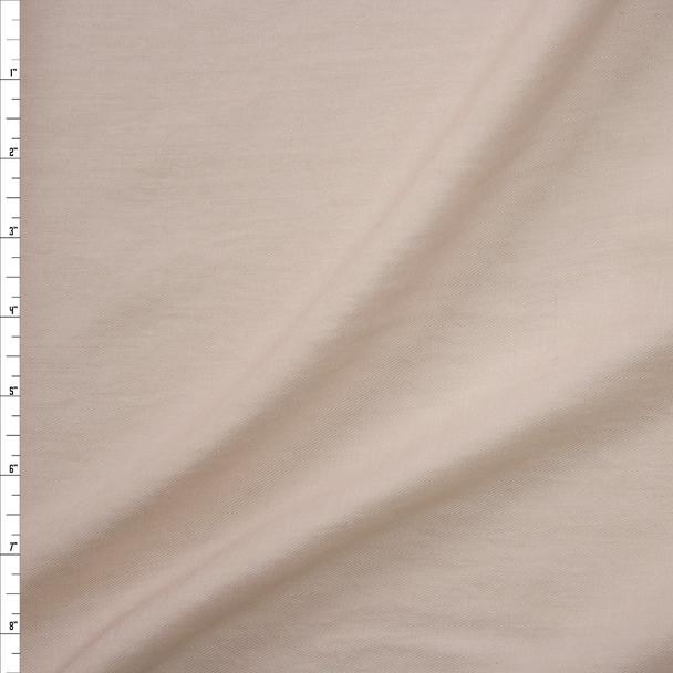 Cream Rayon/Linen Blend Lightweight Twill Fabric By The Yard
