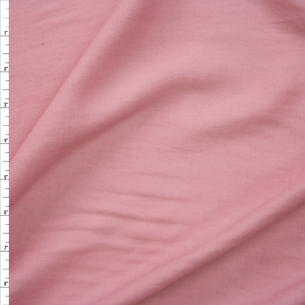 Dusty Pink Rayon/Linen Blend Lightweight Twill Fabric By The Yard