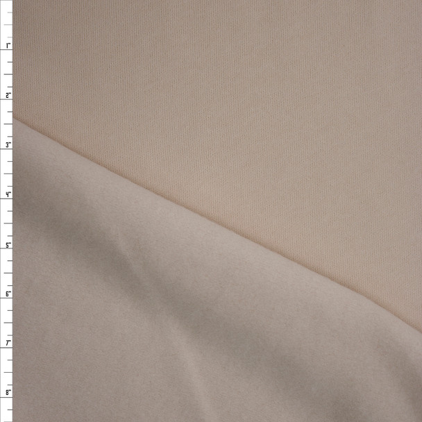 Ivory Midweight Designer Sweatshirt Fleece Fabric By The Yard