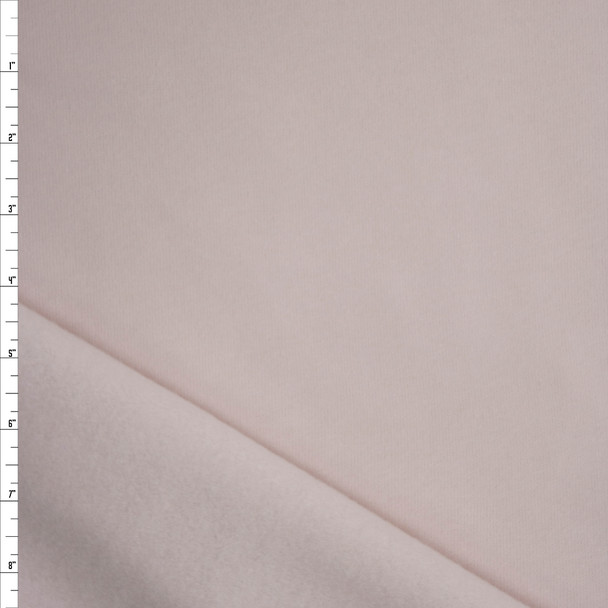 Pale Blush Midweight Designer Sweatshirt Fleece Fabric By The Yard
