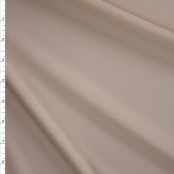 Ivory Midweight Stretch Micro Rib Fabric By The Yard