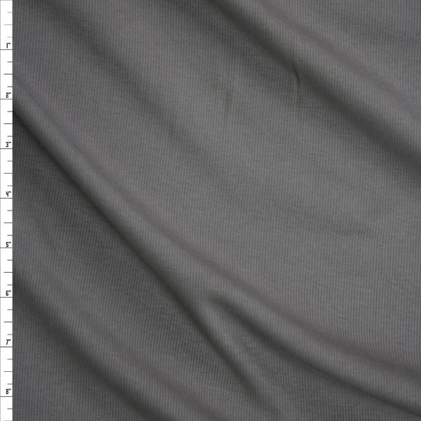 Solid Medium Grey Midweight Rib Knit Fabric By The Yard