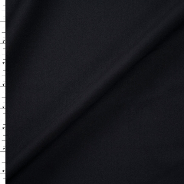 Black Heavy Athletic Poly/Spandex Knit Fabric By The Yard