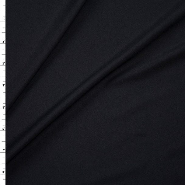Black Midweight Shiny Nylon/Spandex Fabric By The Yard